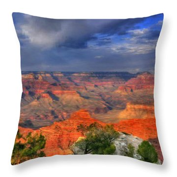 Throw Pillow featuring the painting Beautiful Canyon by Bruce Nutting