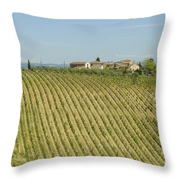Beautiful Chianti Region In Tuscany Throw Pillow by Patricia Hofmeester