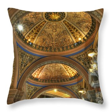 Beautiful Church Throw Pillow by Kathleen Struckle