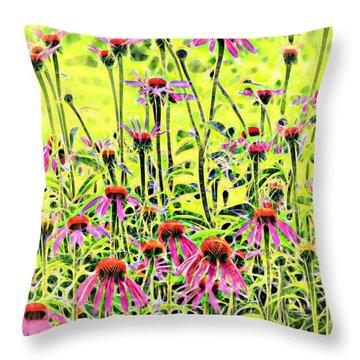 Beautiful Coneflowers Throw Pillow
