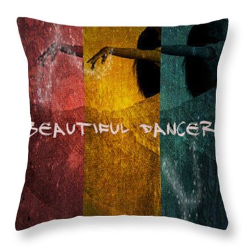 Throw Pillow featuring the digital art Beautiful Dancer by Absinthe Art By Michelle LeAnn Scott
