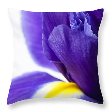 Beautiful Dark Purple Iris Flower Throw Pillow