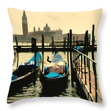 Throw Pillow featuring the photograph Beautiful Day In Venice by Brian Reaves