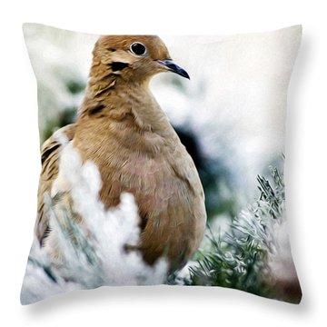 Beautiful Dove Throw Pillow