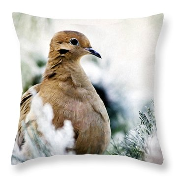 Beautiful Dove Throw Pillow by Christina Rollo