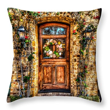 Throw Pillow featuring the photograph Beautiful Entry by Jim Carrell