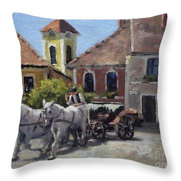 Beautiful European Town Szentendre Throw Pillow