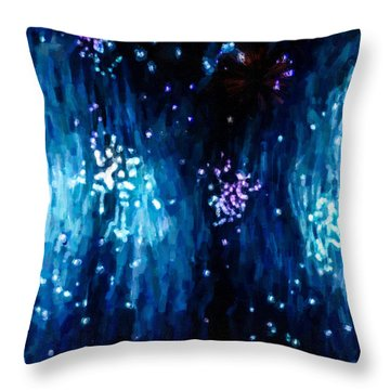 Beautiful Fireworks  1 Throw Pillow by Lanjee Chee