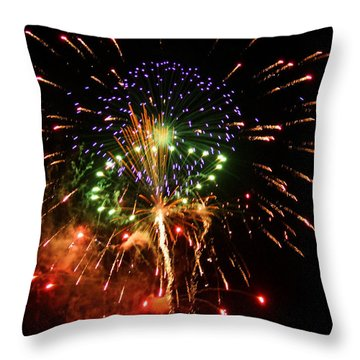 Beautiful Fireworks Works Throw Pillow