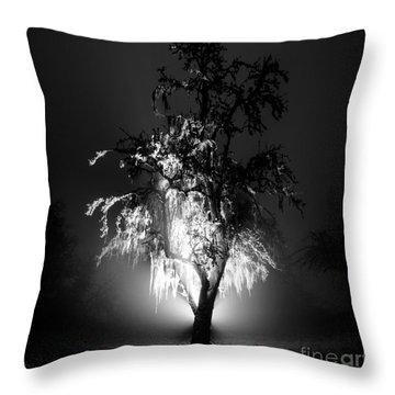 Beautiful Foggy Night 1 Throw Pillow