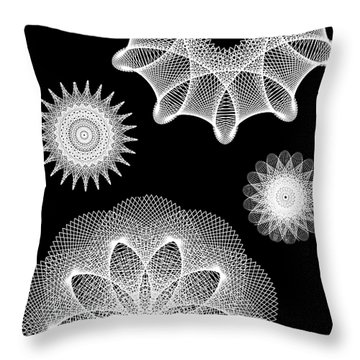 Beautiful Geometry Bw Throw Pillow by Angelina Vick