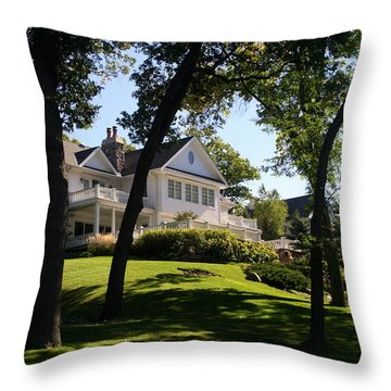 Beautiful Hillside Home Throw Pillow