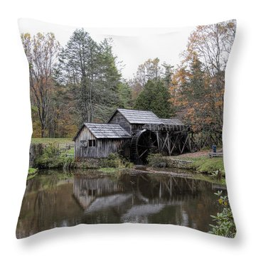 Beautiful Historical Mabry Mill Throw Pillow