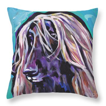 Beautiful Hound Throw Pillow by Lea S