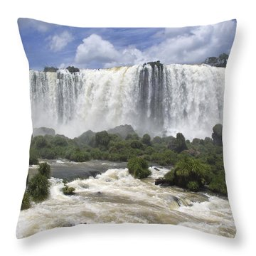 Beautiful Iguazu Waterfalls  Throw Pillow