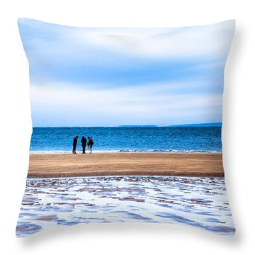 Beautiful Irish Beach On A Winter Day Throw Pillow by Mark E Tisdale
