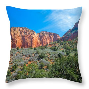 Beautiful Kolob Canyon Throw Pillow by Robert Bales