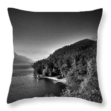 Beautiful Lake George Throw Pillow by David Patterson