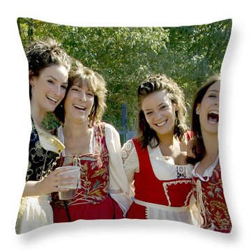 Beautiful Maidens Throw Pillow by Brian Wallace