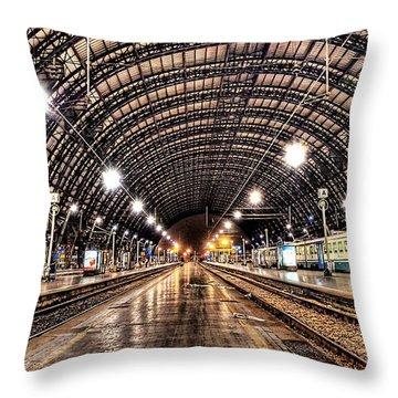 Beautiful Milan Train Station Throw Pillow