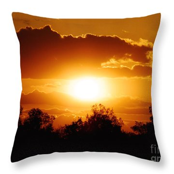 Throw Pillow featuring the photograph Beautiful Moment In Bakersfield by Meghan at FireBonnet Art