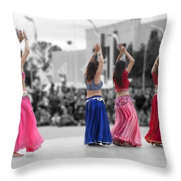 Beautiful Moons At The Festival Throw Pillow