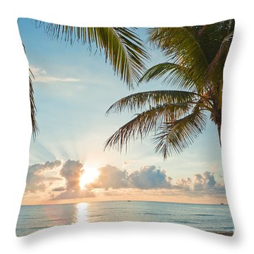 Beautiful Morning In Ft. Lauderdale Florida Throw Pillow by Sharon Dominick