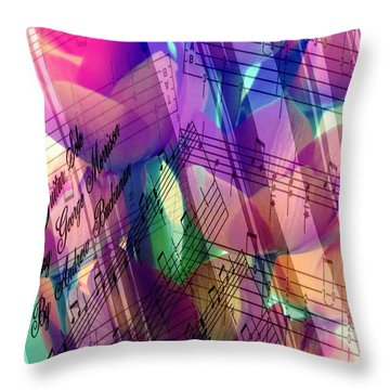 Beautiful Music Throw Pillow