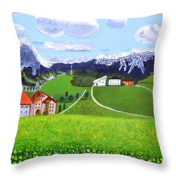 Beautiful Norway Throw Pillow