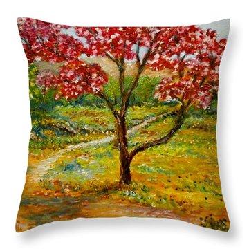 Beautiful Park Throw Pillow
