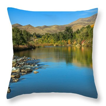 Beautiful Payette River Throw Pillow by Robert Bales