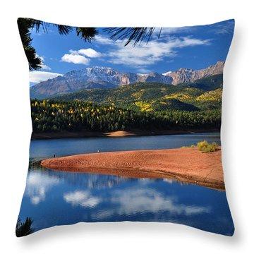 Beautiful Pikes Peak At Crystal  Throw Pillow