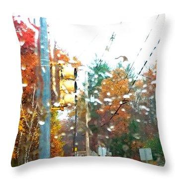 Throw Pillow featuring the photograph Beautiful Rain by Rose Wang