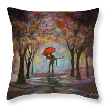 Beautiful Romance Throw Pillow by Leslie Allen