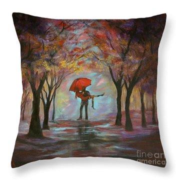 Beautiful Romance Throw Pillow