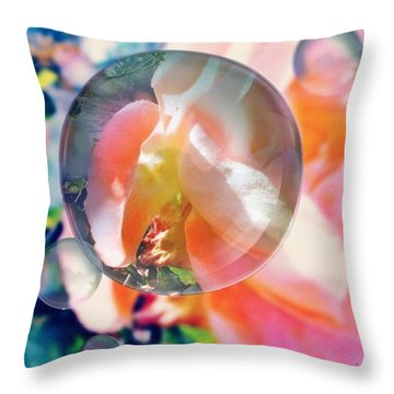Beautiful Rose Marble - Autumn Light Throw Pillow