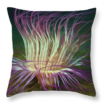 Beautiful Sea Anemone 1 Throw Pillow by Lanjee Chee