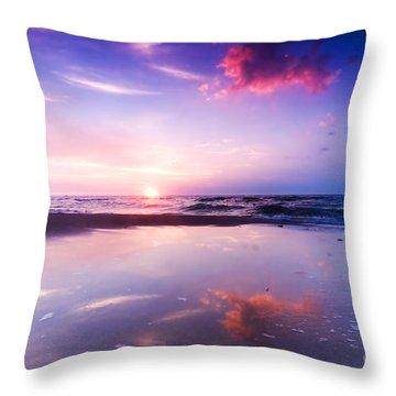 Beautiful Sea Sunrise Throw Pillow by Michal Bednarek