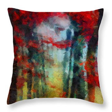 Throw Pillow featuring the painting Beautiful Secrets by Joe Misrasi