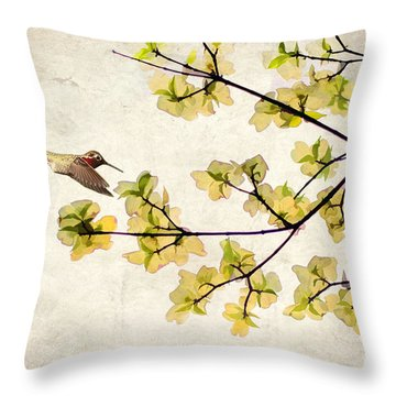 Beautiful Spring Throw Pillow by Darren Fisher