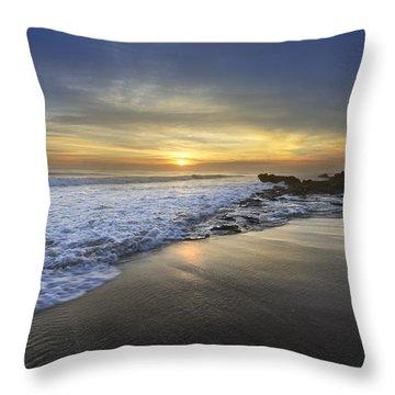 Beautiful Sunrise Throw Pillow by Debra and Dave Vanderlaan