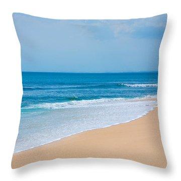 Beautiful Surfing Tropical Sand Beach Throw Pillow