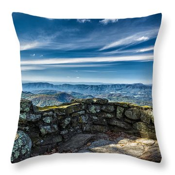 Beautiful View Of Mountains And Sky Throw Pillow