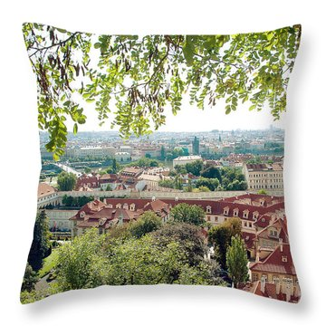 Beautiful View Of Prague Throw Pillow by Ivy Ho