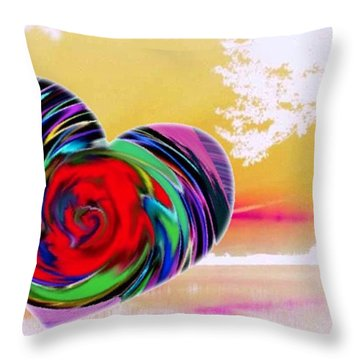 Beautiful Views Exist Throw Pillow by Catherine Lott
