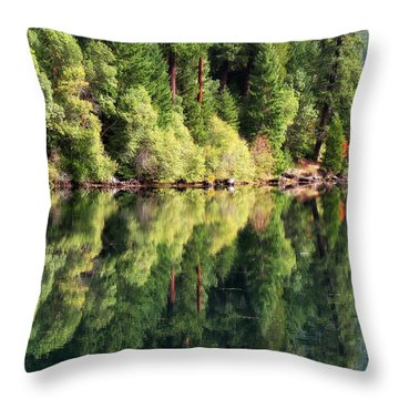 Beautiful Water Throw Pillow by Katie Wing Vigil