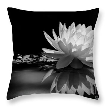 Beautiful Water Lily Reflections Throw Pillow