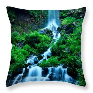 Beautiful Waterfalls In Karuizawa Japan Throw Pillow