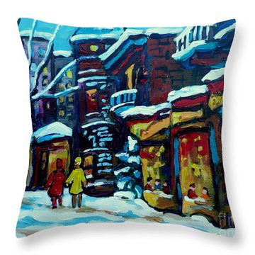 Beautiful Winter Evening Throw Pillow by Carole Spandau