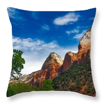 Beautiful Zion Throw Pillow by Robert Bales